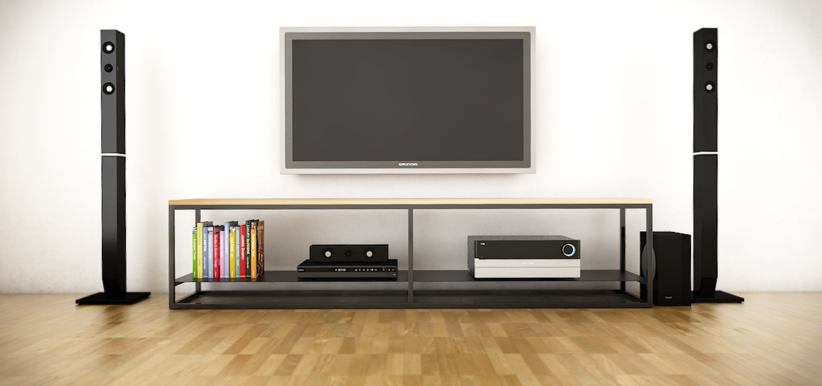 and oak tv stand image